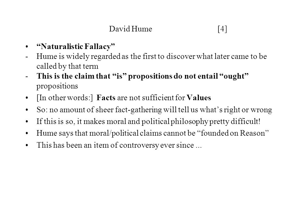 David Hume [4] Naturalistic Fallacy